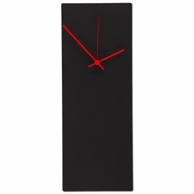 Blackout Red Minimalist Modern Design Wall Clock L0178
