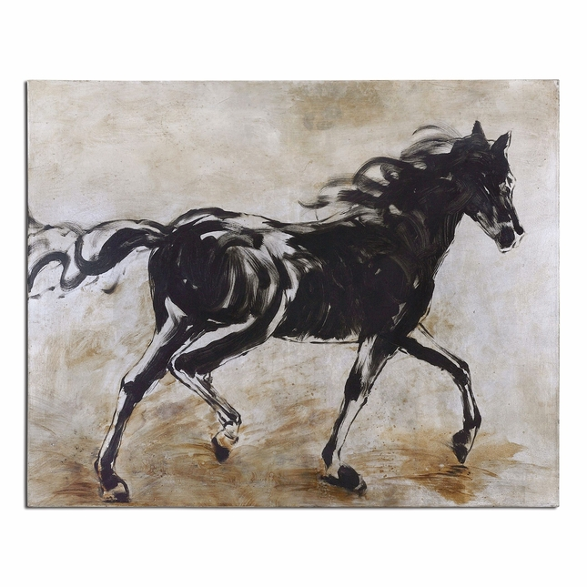 Blacks Beauty Horse Hand Painted Canvas Art 34262
