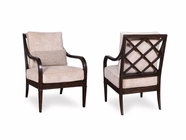 Incredible Blair Fawn Transitional Wood X Back Accent Chair W Fabric Pabps2019 Chair Design Images Pabps2019Com