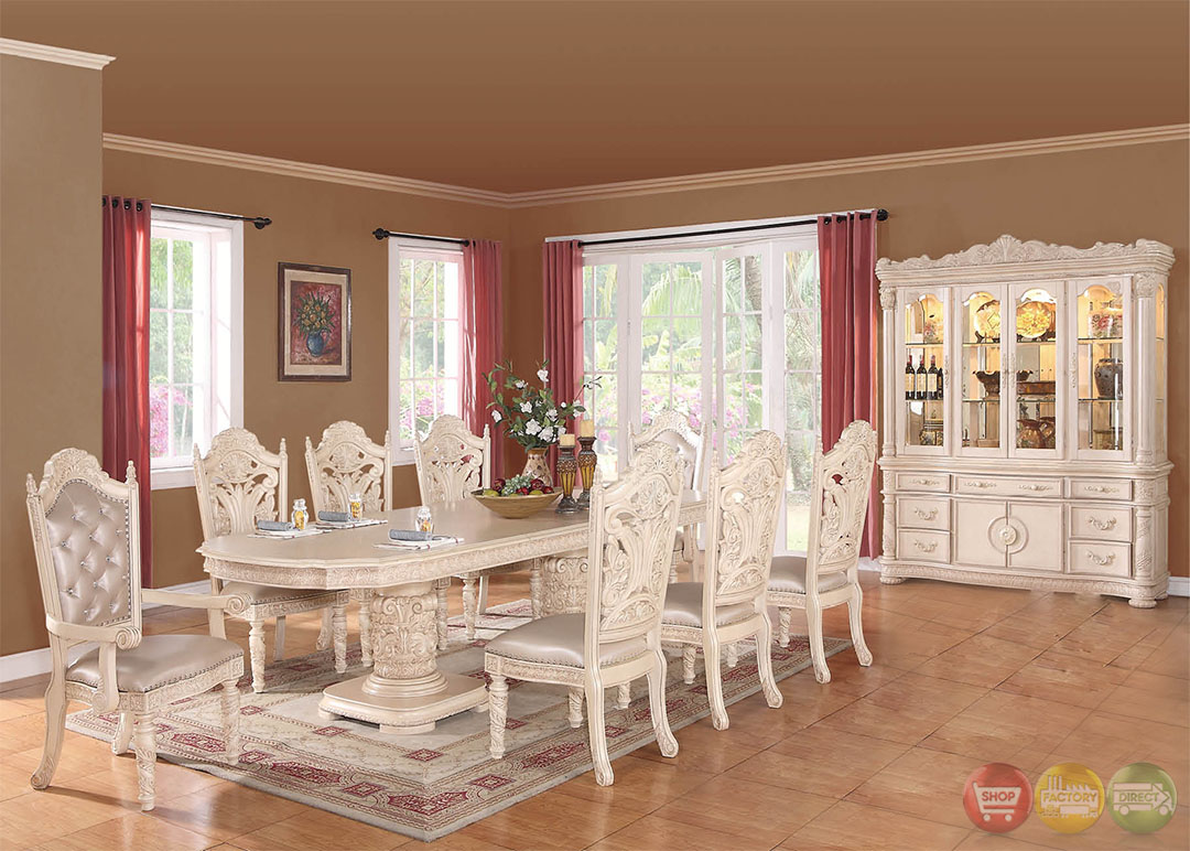 Blair traditional light wood formal dining set with buffet for Light wood dining room sets