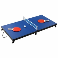 "Blue Drop Shot Portable Folding 42"" Table Tennis Set"