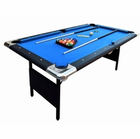 Carmelli Fairmont Portable 6-Ft Folding Blue Pool Table w/Carrying Case & Accessories