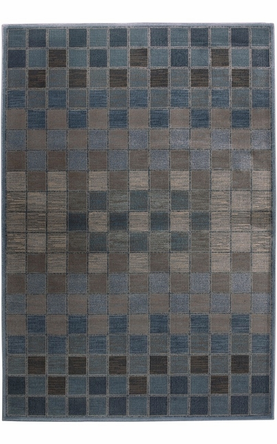 Rizzy Rugs Blue Geometric Power Loomed Area Rug Bellevue BV3197