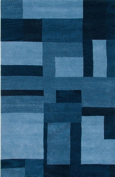 Rizzy Rugs Blue Geometric Hand Tufted Area Rug Colours CL2819