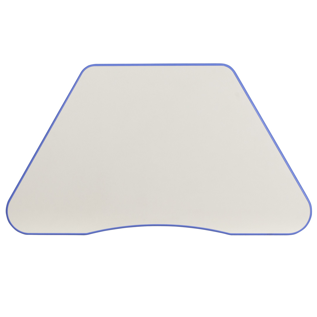 Trapezoid Shaped House: Blue Plastic Trapezoid Shaped School Activity Table