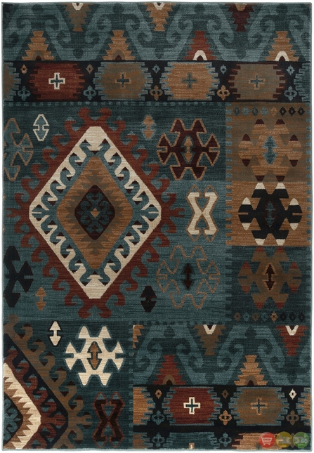 Rizzy Rugs Blue Southwest Power Loomed Area Rug Bellevue BV3704