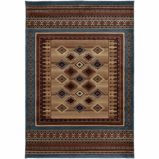 Rizzy Rugs Blue Southwest Power Loomed Area Rug Bellevue BV3712