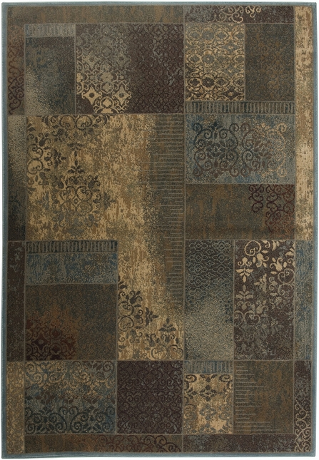 Rizzy Rugs Blue Transitional Power Loomed Area Rug Bellevue BV3196