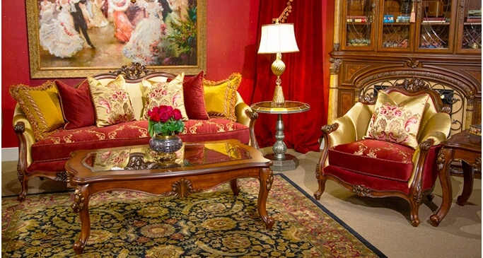 bold traditional style living room furniture