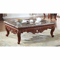 Bordeaux Marble Coffee Table With Hand-carved Design