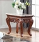 Bordeux Marble End Table With Hand-carved Design