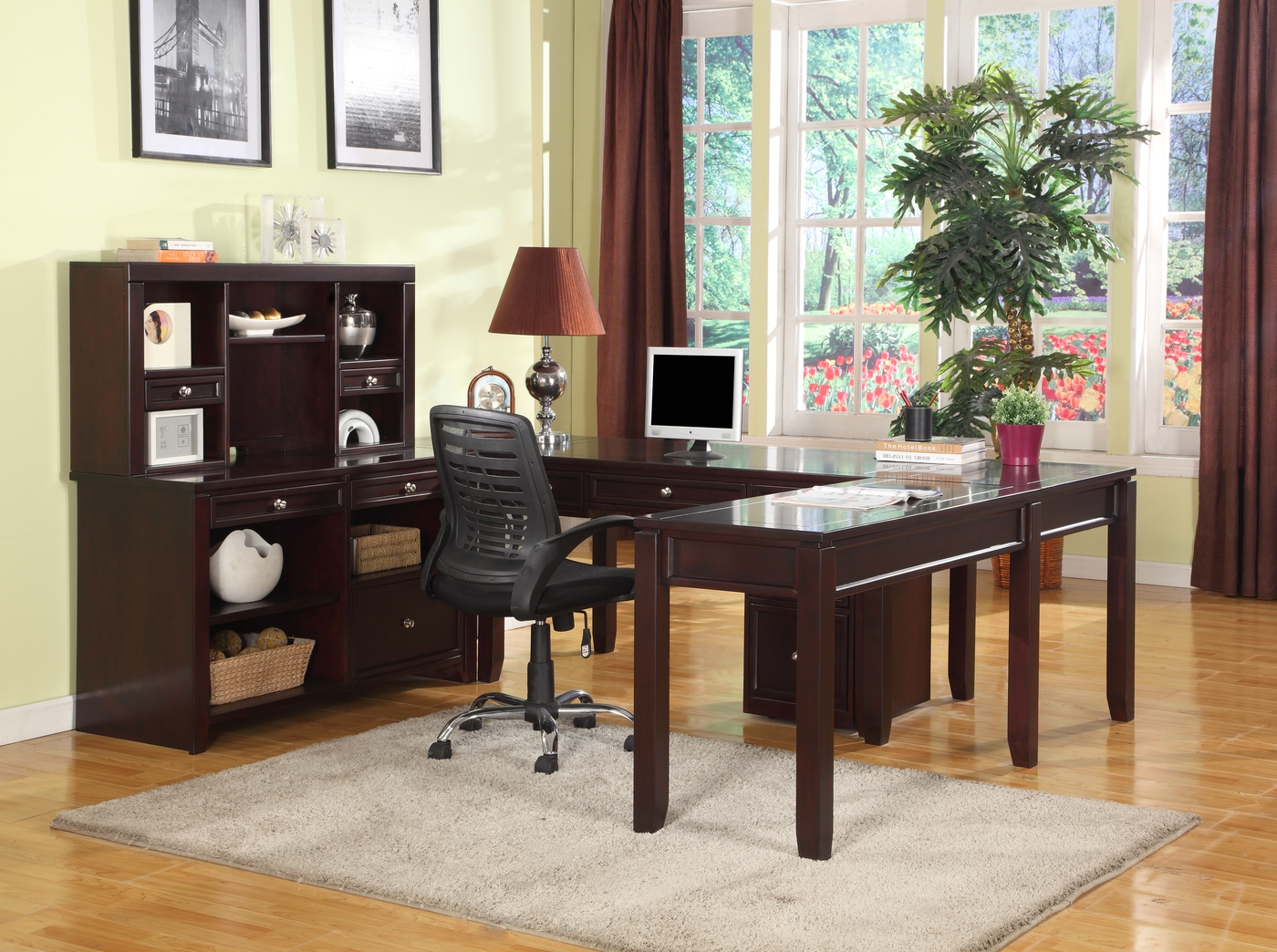 home office suite boston merlot finish transitional home office suite 16549