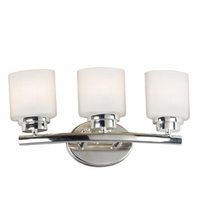 Bow Triple Light Sconce Polished Nickel Vanity Fixture 03392
