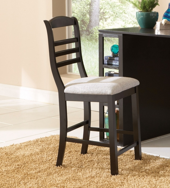 Bradford Counter Height Desk Chair In Painted Black Wood