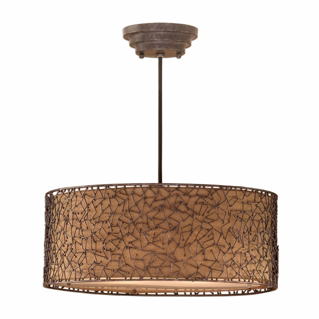 Brandon Modern 3 Light Drum Pendant 21153
