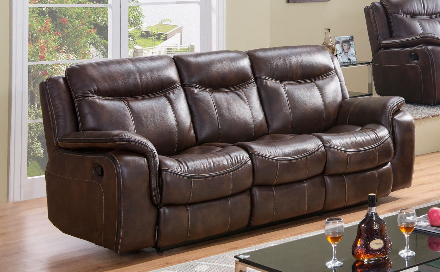 Braylon Classic Brown Reclining Sectional In Premium