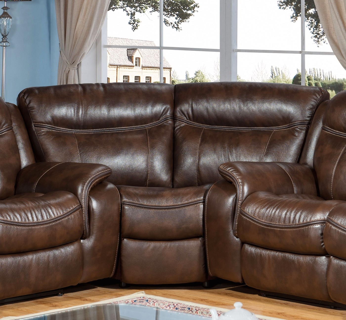Braylon Classic Brown Sectional Wedge In Premium Leather