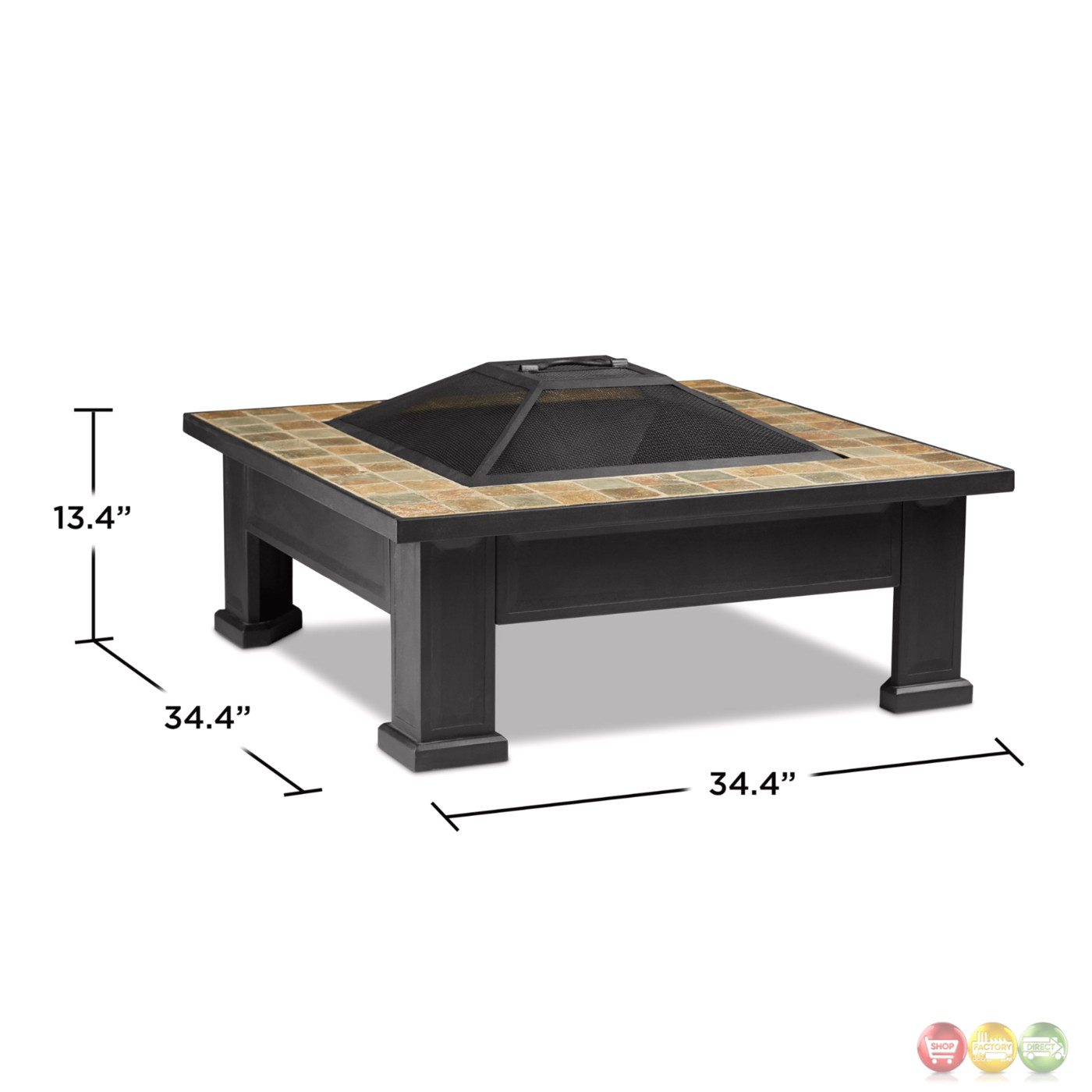 Breckenridge Outdoor Wood Burning 34 Quot Square Fire Pit With
