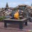 "Breckenridge Outdoor Wood-Burning 34"" Square Fire Pit With Slate Tile Top"