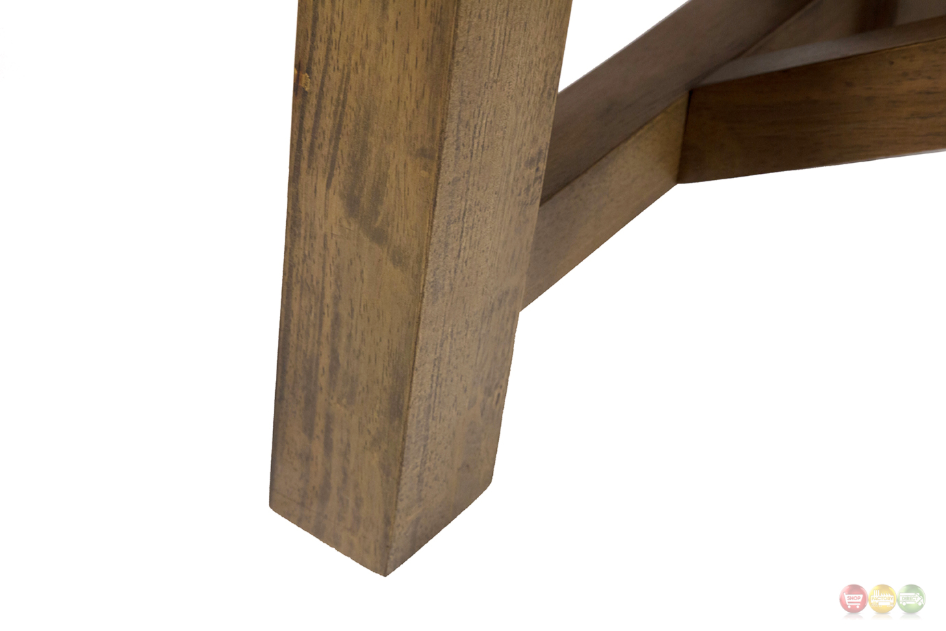 Breckenridge Rustic Sofa Table With Wooden Quot X Accents