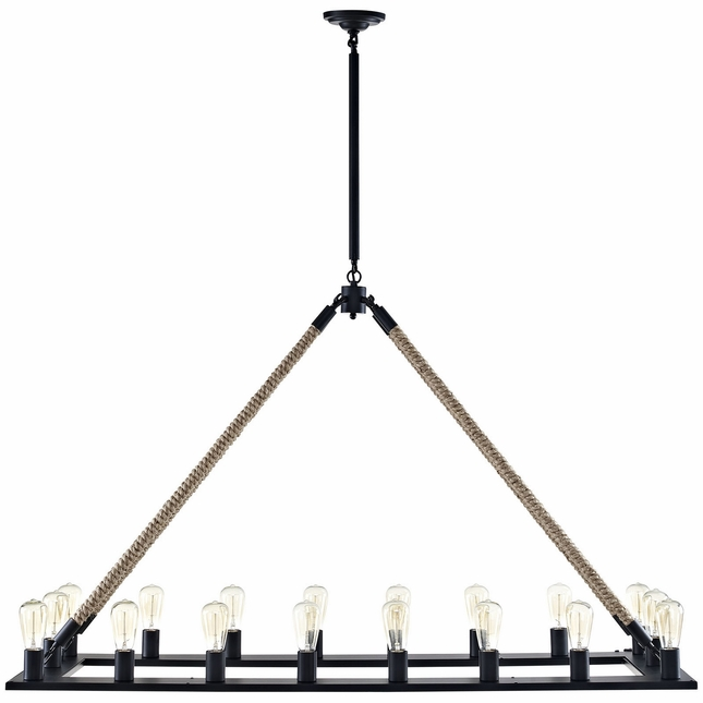 Bridge Industrial Modern Suspension Bridge-inspired Chandelier , Brown