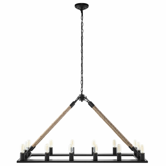 Bridge Modern Suspension Bridge-inspired Pendant Chandelier, Black