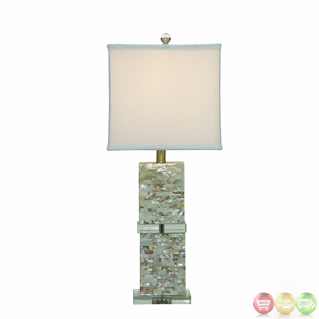 Mother Of Pearl Accent Lamp: Bridget Mother Of Pearl Table Lamp L2551TEC