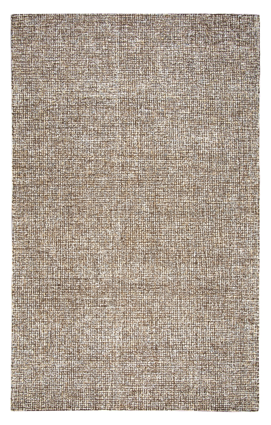 Brindleton Solid Canvas Pattern Area Rug In Brown Amp Ivory
