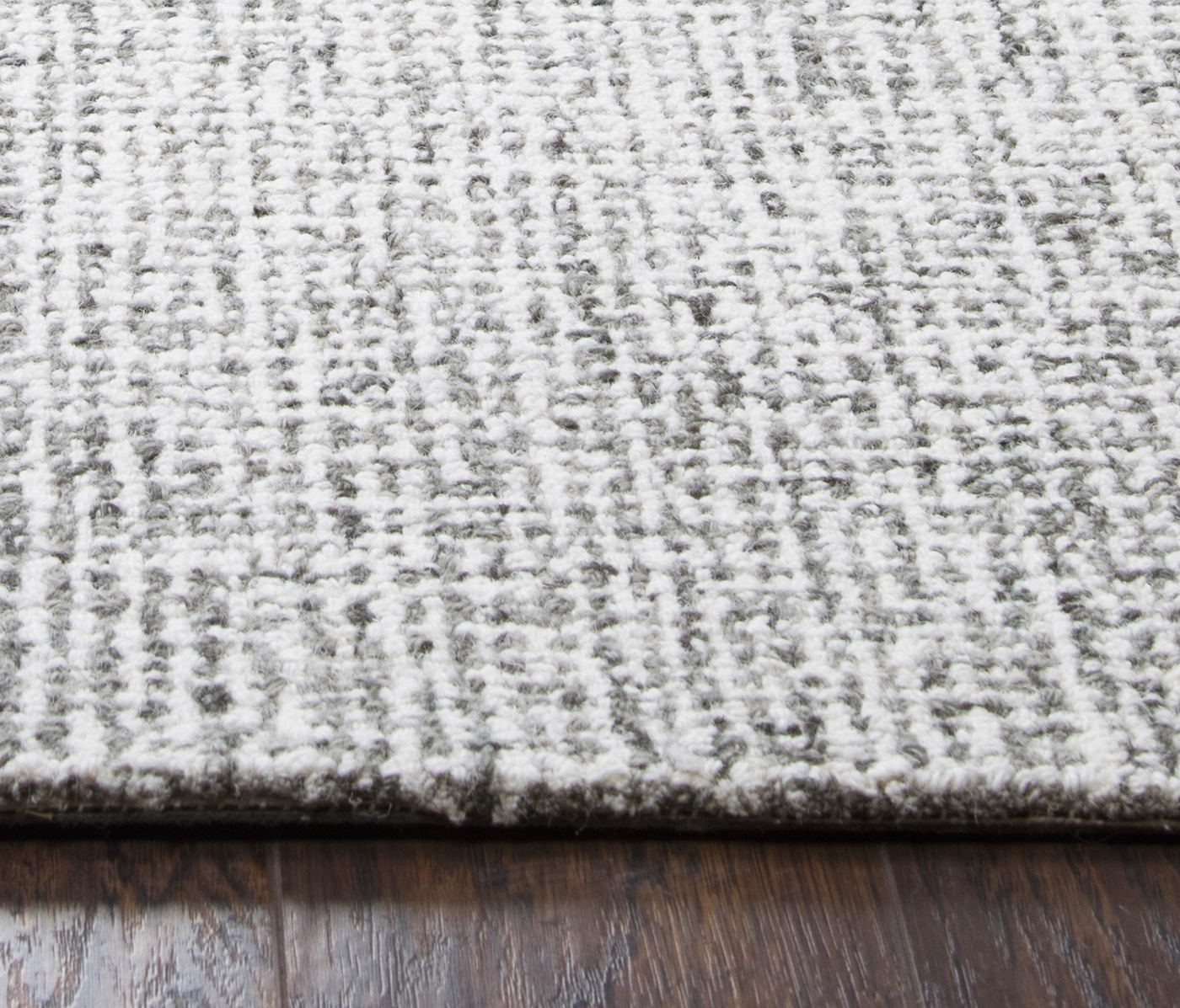 Brindleton Solid Canvas Pattern Area Rug In Gray Amp Ivory