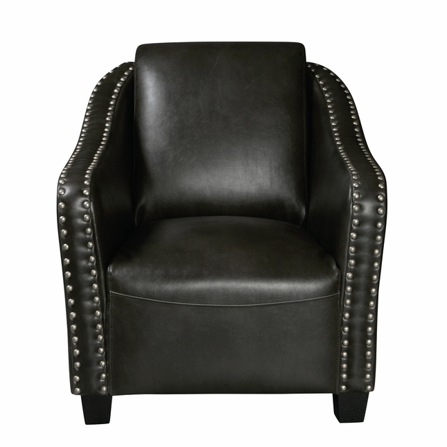 Broadmoor Traditional Accent Club Chair With Nailhead Trim