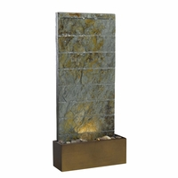 "Brook Indoor / Outdoor 36""H Floor Water Fountain Natural Slate w/ Light 50621SL"