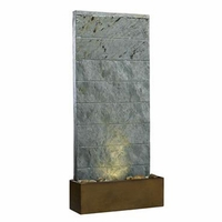 Brook Table Top Water Fountain Grey Slate Soothing - 50620SL