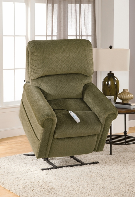 Serta Comfortlift Brookfield Forest Green Reclining Lift Chair With ...