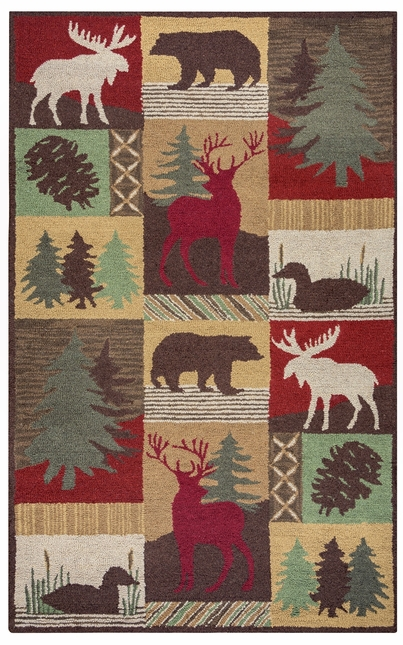 Rizzy Rugs Brown Lodge Hand Tufted Area Rug Country CT2062