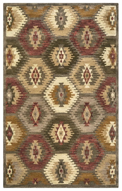 Rizzy Rugs Brown Southwest Hand Tufted Area Rug Southwest SU8152