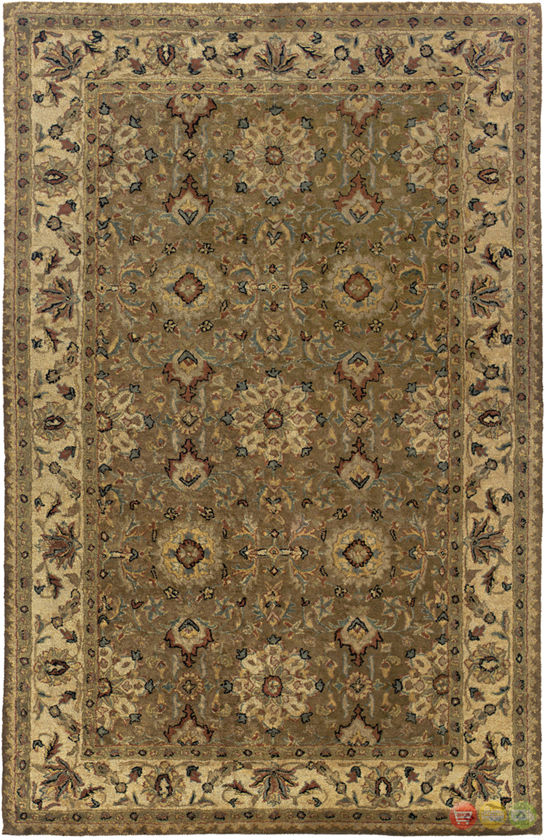 Rizzy Rugs Brown Traditional Hand Tufted Area Rug Shine Sn0334