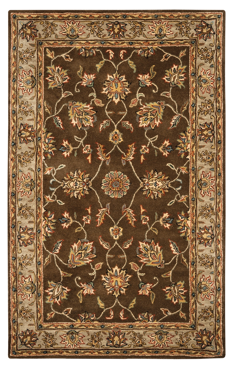 Rizzy Rugs Brown Traditional Hand Tufted Area Rug Volare