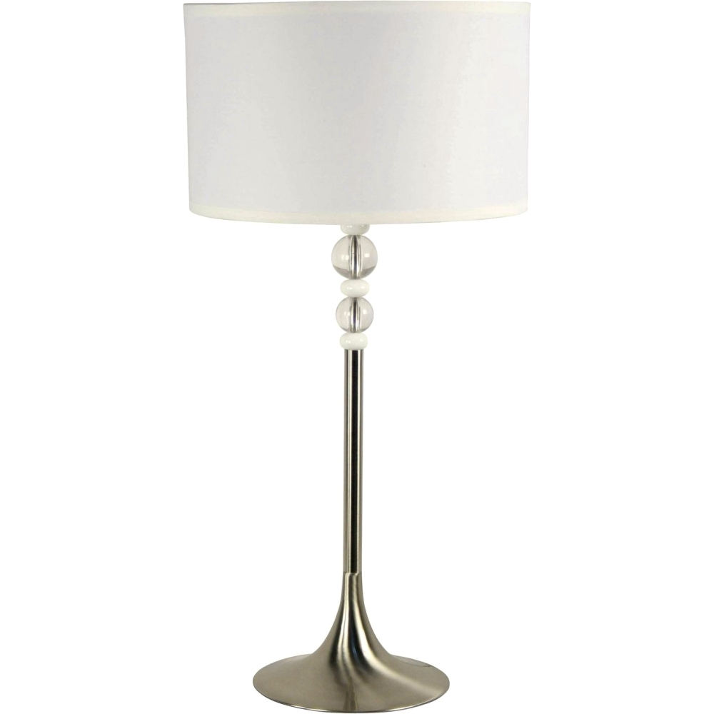 Stylecraft Barclay Brass 3 Piece Living Room Accent Table: Brushed Steel Luella Clear Acrylic Accents Table Lamp