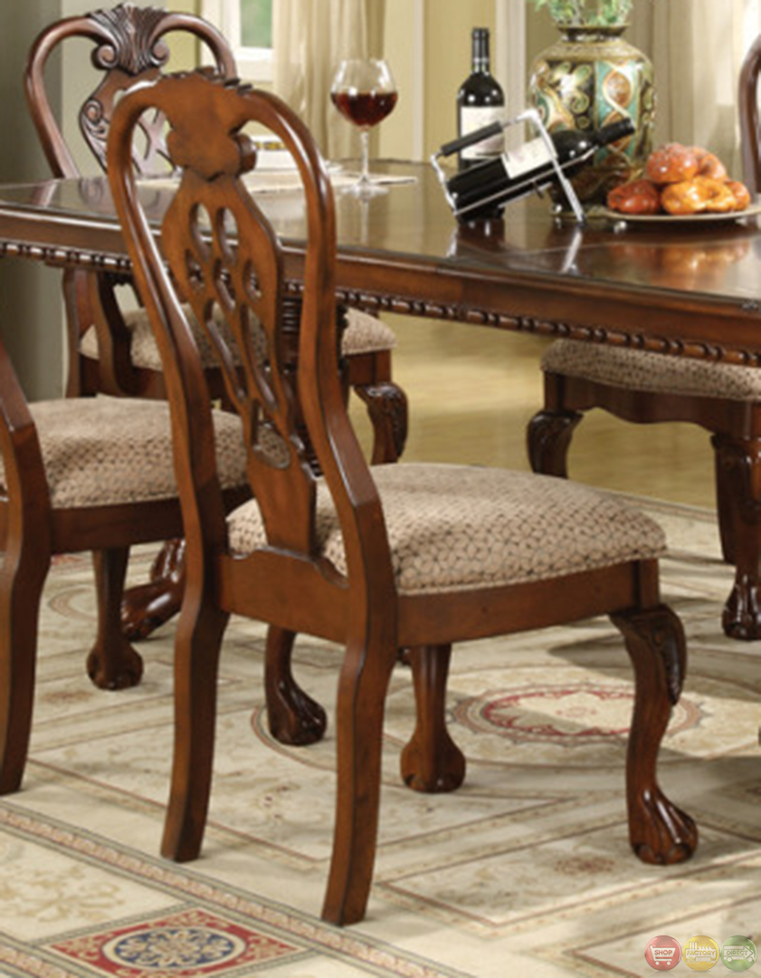 Brussels traditional dining room set 7 piece set for Traditional dining table and chairs