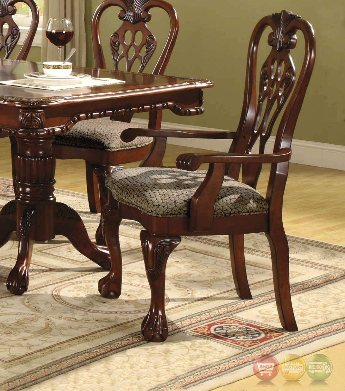 Brussels Formal Dining Room 7 Piece Furniture Set: Brussels Dining Room Set