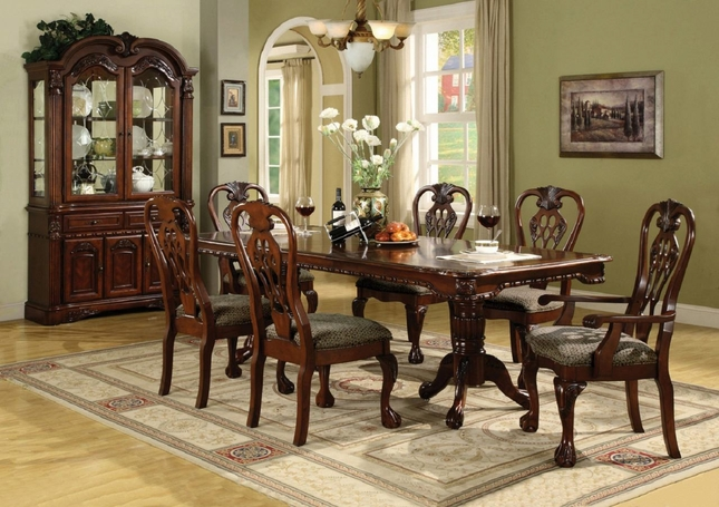traditional dining room set. Brussels Traditional Dining Room Table and Chairs 7 piece Set  Crown Mark