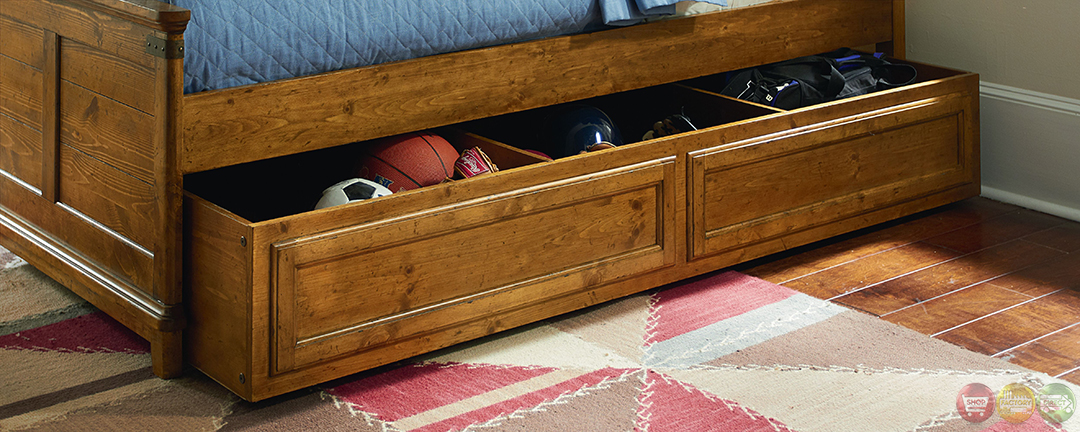 Bryce Canyon Heirloom Pine Arched Panel Twin Bed