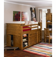 Bryce Canyon Heirloom Pine Mid Loft Twin Youth Bed