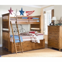 Bryce Canyon Heirloom Pine Twin over Full Bunk Bed
