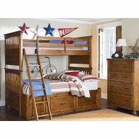 Bryce Canyon Heirloom Pine Twin over Twin Bunk Bed
