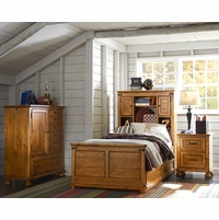 Bryce Canyon Rustic American Bookcase Twin Youth Bed