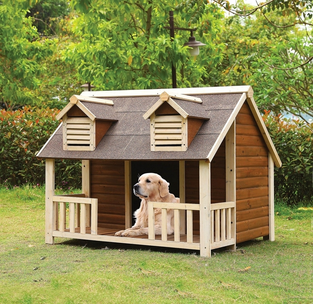 Buddy Country Cottage Jumbo Wooden Dog House W Porch In