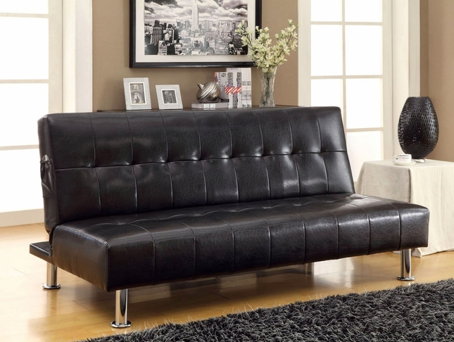 Bulle Contemporary Black Futon Sofabed