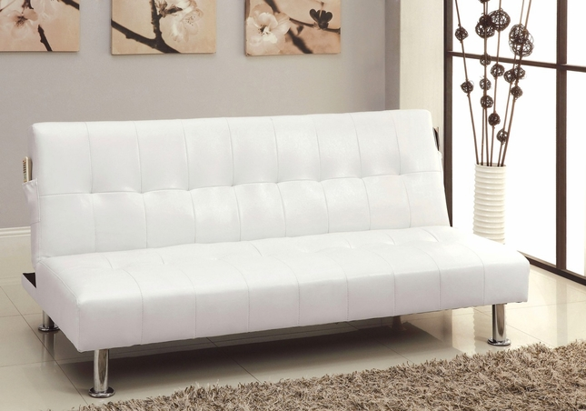 Bulle Contemporary White Futon Sofabed