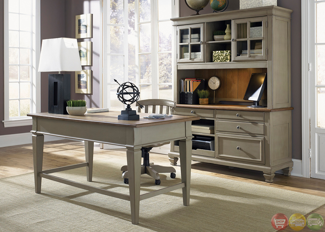 Bungalow executive home office furniture desk set for Home office furniture images
